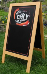 chalk it up signs, A frame chalkboard, Gabriola Island