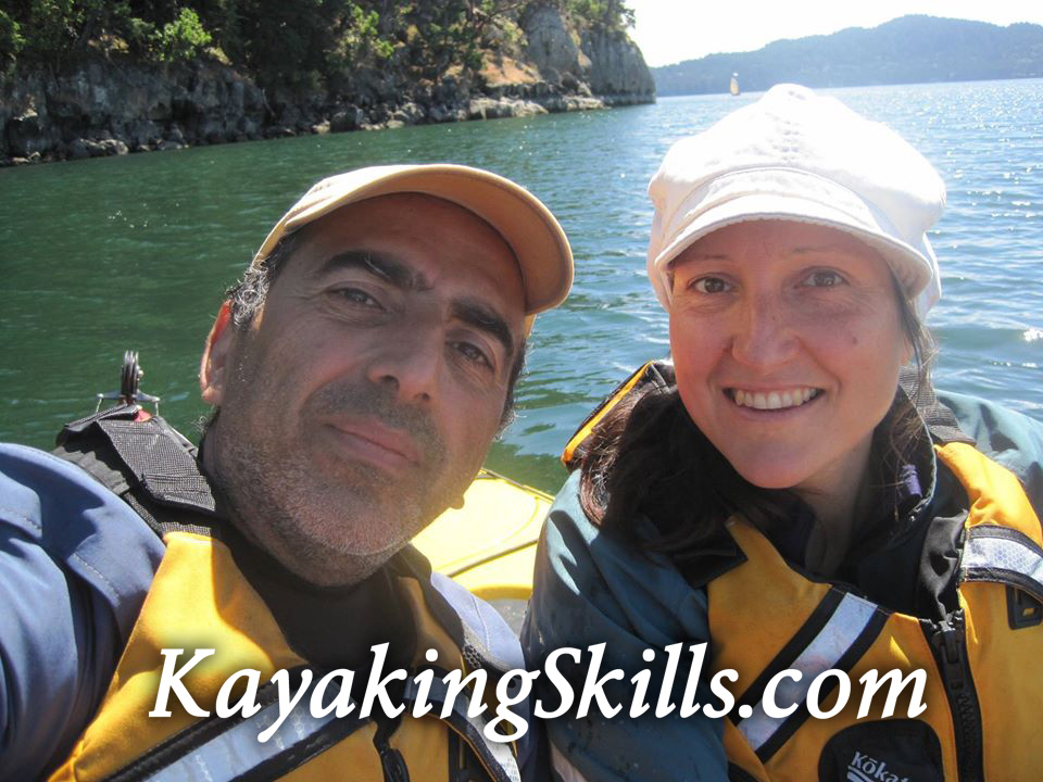 Ruth Daber and Fred Shadian Sea Kayaking on Saturna Island